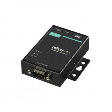 1 port device server, 10/100M Ethernet, RS-232, DB9 male,  12-48VDC