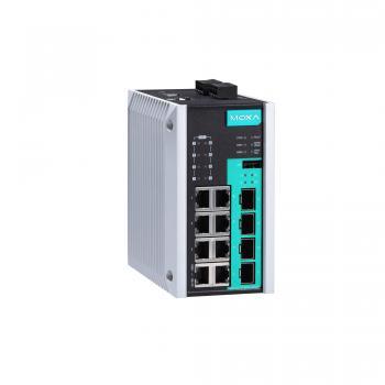 12-port full Gigabit managed Ethernet switch, 8 10/100/1000BaseT PoE/PoE+ ports