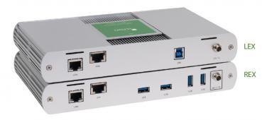 ICRON USB 3-2-1 Raven 3104 Pro Set, USB 3.2, CAT6a/7, 4-Port, 100m