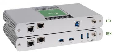 ICRON USB 3-2-1 Raven 3104 Set, USB 3.1, CAT6a/7, 4-Port, 100m