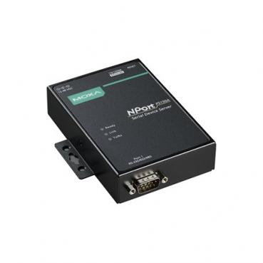 1-port RS-232/422/485 device server, 10/100M Ethernet, DB9 male, PoE,  -40~75?,