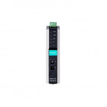 1-port RS-232/422/485 to 1 100BaseF(X) multi-mode port, SC, -40 to 75°C, IECEx