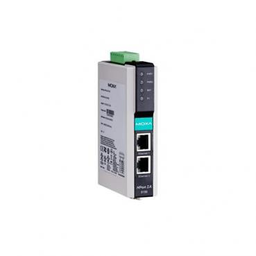1-port RS-232/422/485 to 2-ports 10/100BaseT(X), -40 to 75°C, IECEx