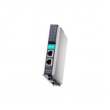 2-port RS-232/422/485 serial device server with 2 KV isolation, 10/100MBaseT(X)