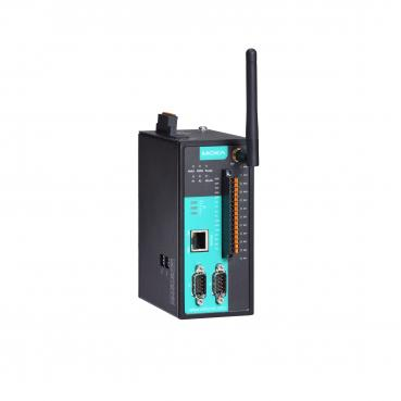 2 -port RS-232/422/485 wireless device server with 802.11a/b/g /n WLAN, 8DI, 4D