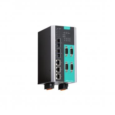 4-port Device Server, 3 Ethernet, 2 single SC FO Managed Switch, 24/48VDC, 10/1