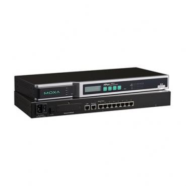 8 ports RS-232/422/485 secure device server, 48VDC