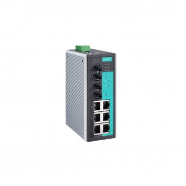 Entry-level Industrial Managed Ethernet Switch with 6 10/100BaseT(X) ports, 2 m