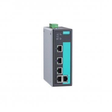 Entry-level managed Ethernet switch with 5 10/100BaseT(X) ports, -40 to 75°C op