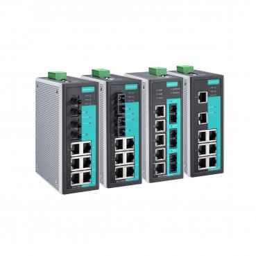 Entry-level managed Ethernet switch with 5 10/100BaseT(X) ports, and 3 100BaseF