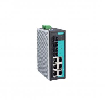 Entry-level managed Ethernet switch with 6 10/100BaseT(X) ports, and 2 100BaseF