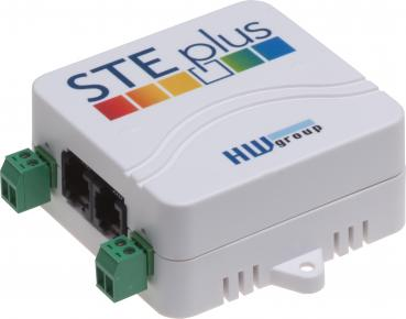 HWg-STE plus PoE, 2 Port IP Thermometer mit 2 digitalen Eingängen