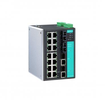 Industrial Gigabit Managed Ethernet Switch with 14 10/100BaseT(X) ports, 2 sing