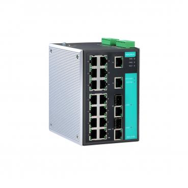 Industrial Gigabit Managed Ethernet Switch with 16 10/100BaseT(X) ports, 2 comb
