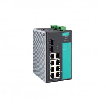 Industrial Gigabit Managed Ethernet Switch with 7 10/100BaseT(X) ports, 1 10/10