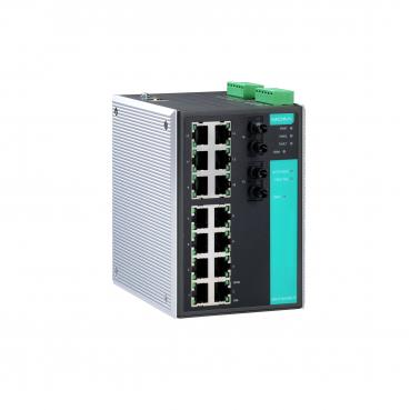 Industrial Managed Ethernet Switch with 14 10/100BaseT(X) ports, 2 multi mode 1
