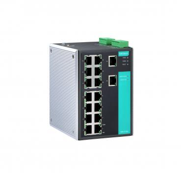 Industrial Managed Ethernet Switch with 16 10/100BaseT(X) ports, -40 to 75°C