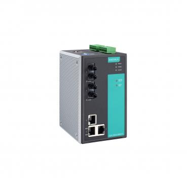 Industrial Managed Ethernet Switch with 3 10/100BaseT(X) ports, 2 multi mode 10