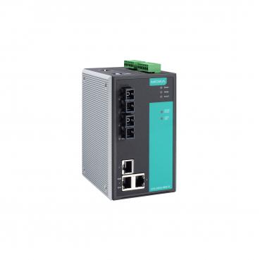 Industrial Managed Ethernet Switch with 3 10/100BaseT(X) ports, 2 single mode 1
