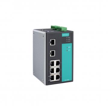 Industrial Managed Ethernet Switch with 8 10/100BaseT(X) ports, -40 to 75°C