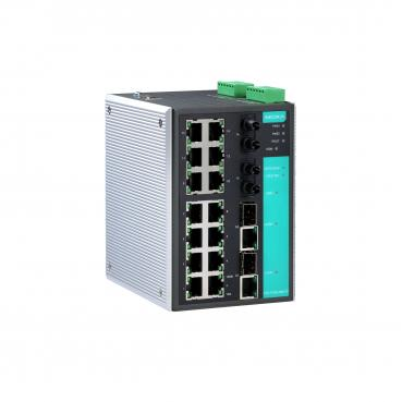 Industrial Redundant Ethernet switch with 2 10/100/1000 BaseTx ,2 100 BaseFx mu