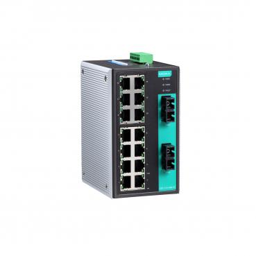 Industrial Unmanaged Ethernet Switch with 14 10/100BaseT(X) ports, 1 multi mode