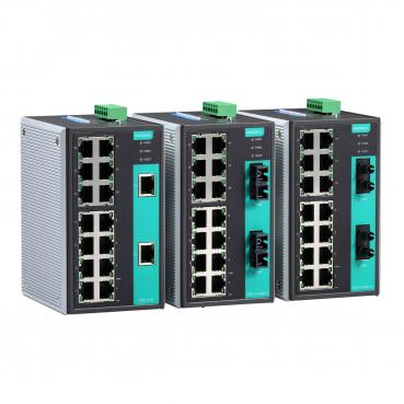 Industrial Unmanaged Ethernet Switch with 14 10/100BaseT(X) ports, 2 multi mode