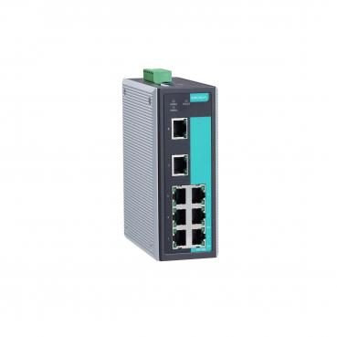 Industrial Unmanaged Ethernet Switch with 8 10/100BaseT(X) ports, -40 to 75°C