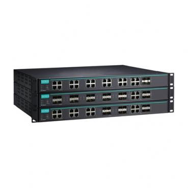 Layer 3 Full Gigabit managed Ethernet switch with 20 100/1000BaseSFP slots and
