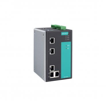 Managed Ethernet switch with 5 10/100BaseT(X) ports, -10 to 60°C operating temp