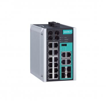 Managed Gigabit Ethernet switch with 12 10/100BaseT(X) ports, 2 100BaseFX multi