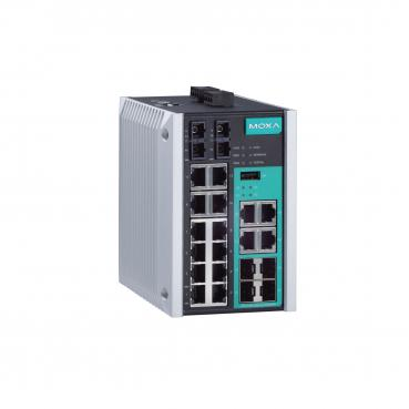 Managed Gigabit Ethernet switch with 12 10/100BaseT(X) ports, 2 100BaseFX singl