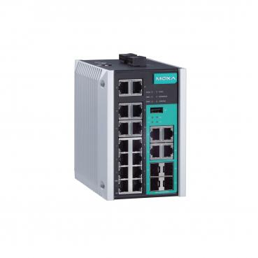Managed Gigabit Ethernet switch with 14 10/100BaseT(X) ports, and 4 combo 10/10