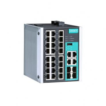 Managed Gigabit Ethernet switch with 24 10/100BaseT(X) ports, and 4 combo 10/10