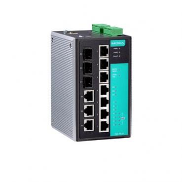 Managed Gigabit Ethernet switch with 3 10/100BaseT(X) ports, 4 PoE 10/100BaseT(
