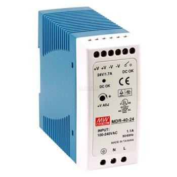 MDR-40-24 Mean Well 40W/1.7A DIN-Rail 24V VDC power supply