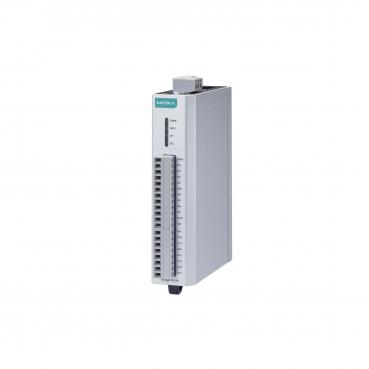 RS-485 remote I/O, 16 DIs, -10 to 75°C operating temperature.