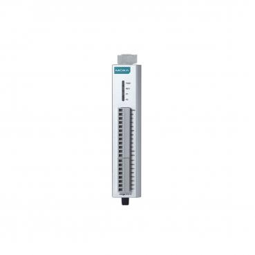 RS-485 remote I/O, 8 DIs, 8 DIOs, -10 to 75°C operating temperature.