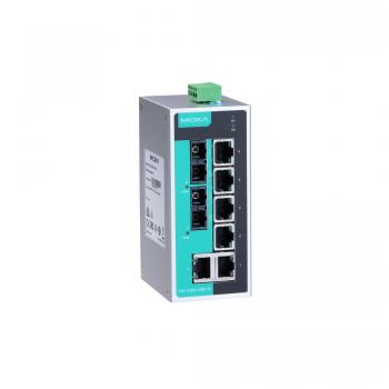 Unmanaged Ethernet switch with 6 10/100BaseT(X) ports, and 2 100BaseFX multi-mo
