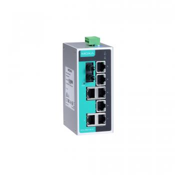 Unmanaged Ethernet switch with 7 10/100BaseT(X) ports, and 1 100BaseFX multi-mo