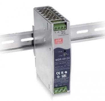 WDR-60-24 Mean Well 60 W/2.5 A DIN-rail 24 VDC, -30°C bis 85°C