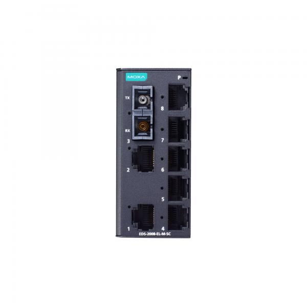 8-Port Entry-level Unmanaged Switch, 7 Fast TP ports, 1 multi-mode port, SC, -1